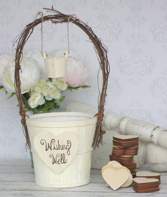 Wedding Guest Book Alternative Rustic Wedding Wishing Well (item P10242)