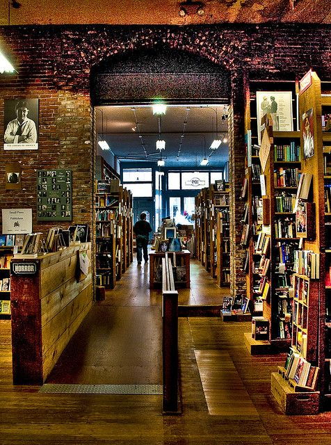 Elliott Bay Book, Seattle by franzj, via Flickr - one of my favourite bookshops ever, very carefully selected stock