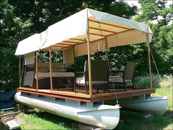 how to build poontoons for a boat