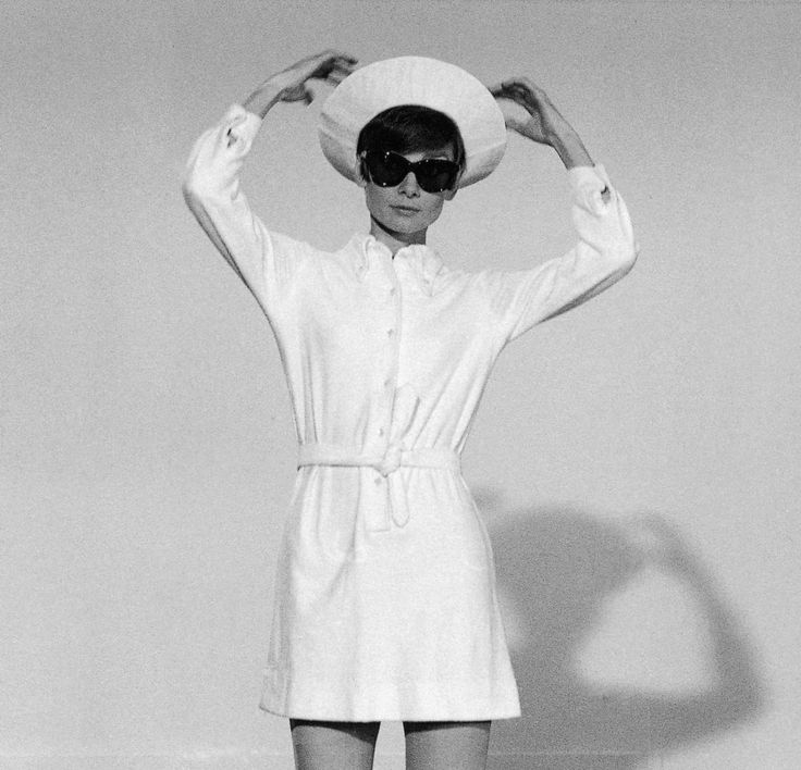 Audrey Hepburn photographed by Terry O'Neill at the Studios de la Victorine, on…