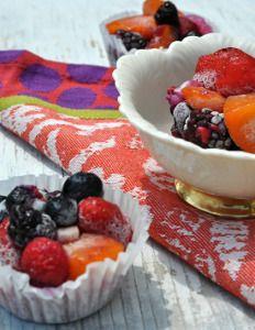 Individual Frozen Fruit Salads | RecipeLion.com