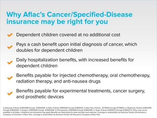 Aflac Employee Presentation Aflac Dental Coverage Cancer Insurance