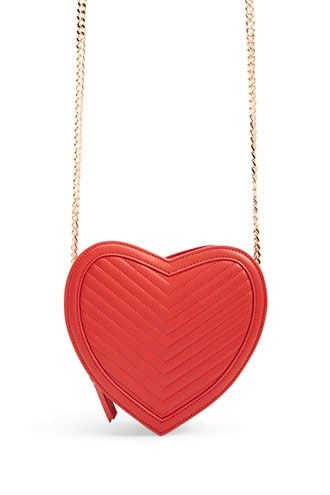 ed8d6ae2d Faux Leather Heart Crossbody Bag in 2019 | Products | Bags, Leather ...