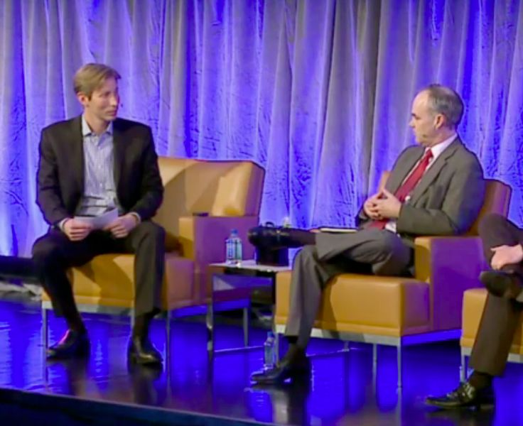 Facebook VP David Fischer asked Stephen F. Quinn, EVP and CMO of Walmart U.S., discuss how the multinational retailer uses technology to still go local today.