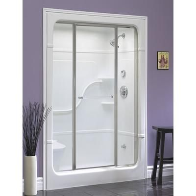 one piece shower stall stall shower a thing basements the wall