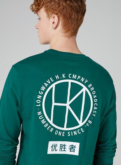 Green 'Company' Print T-Shirt - TOPMAN
