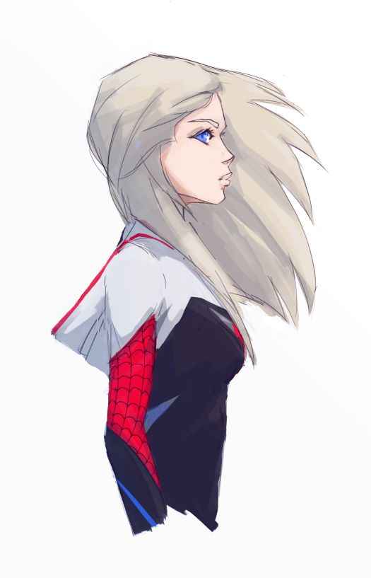 Spider-Gwen by Zirchik . Character Drawing Illustration - visit to grab an…