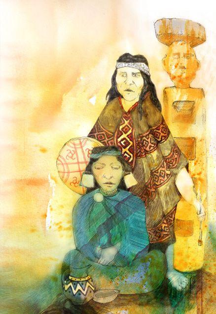 ilustracion mapuche - Buscar con Google