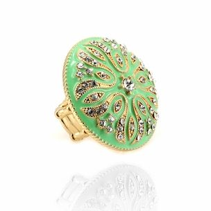 Paash Pastel Green Dome Stretch Ring //blossomboxjewelry.com/r1020.  sc 1 st  Pinterest & 37 best Blossom Box Rings images on Pinterest | Bollywood ... Aboutintivar.Com