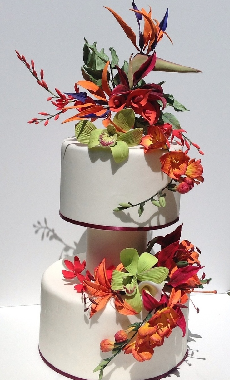 Wedding Cakes With Orchids And Lilies
