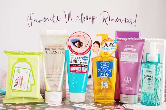 My Lovely Sister ♥ a blog with love: Most Loved 13 : 6 Pembersih Wajah Favorit - Best Makeup Removers