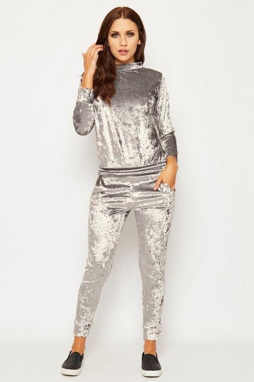 Emmie Crushed Velvet Loungewear Set | WearAll