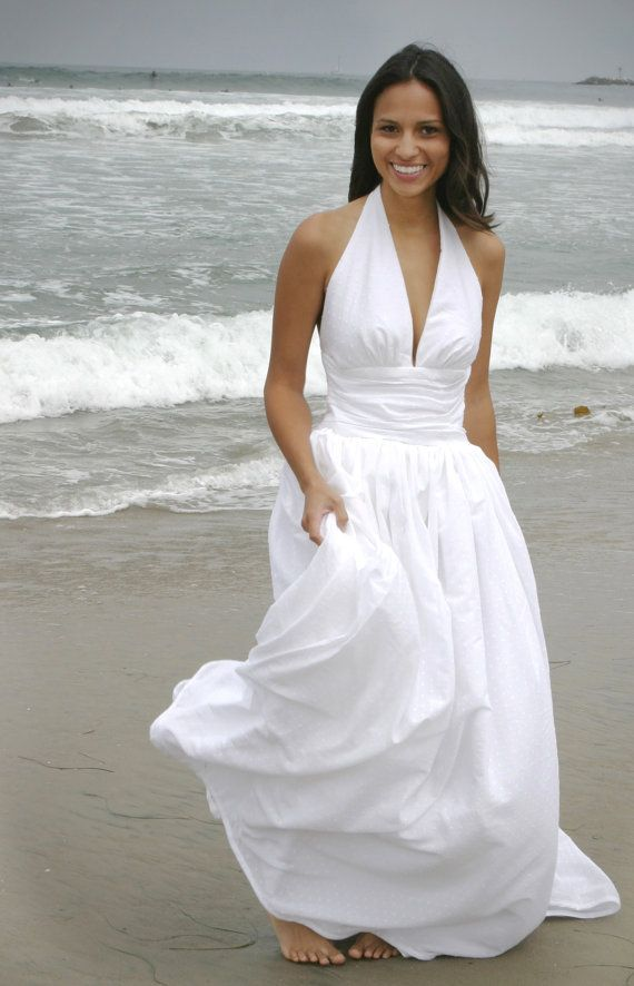 Marilyn Halter Wedding Gown By DMarieCouture On Etsy