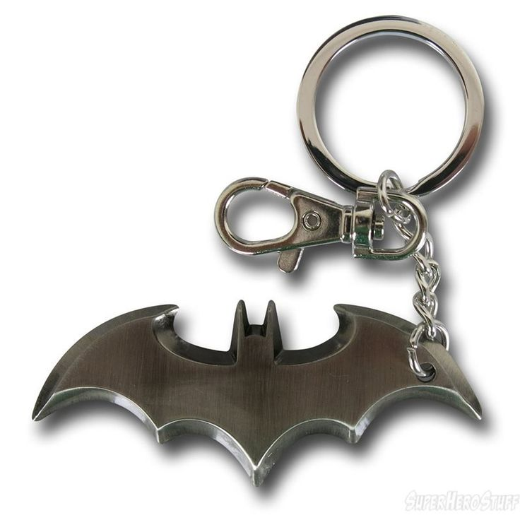 Batman Batarang Pewter Keychain