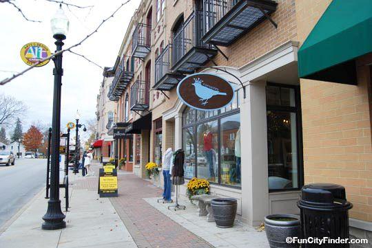 Photo of popular downtown Carmel shops in Carmel, Indiana