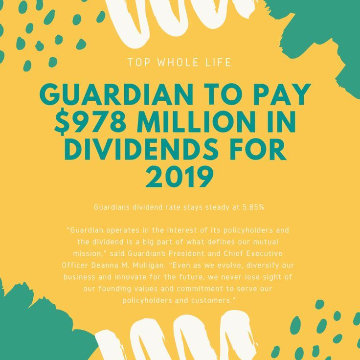 Guardian Announced Their 2019 Dividend The Company Will Pay 978