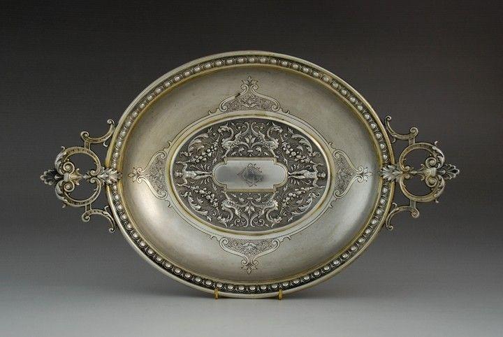 Silver dish, Bremen, import for Russia