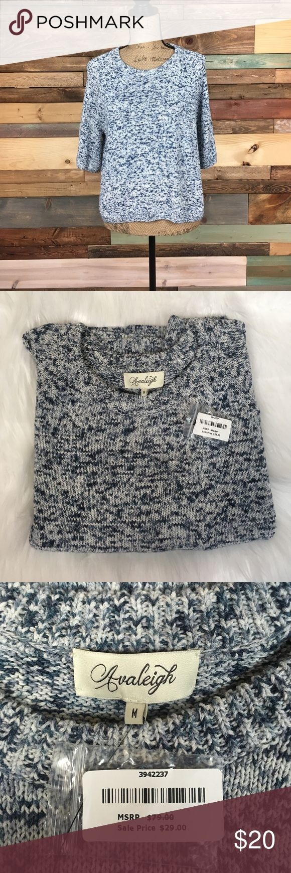 "NWT Sky Blue Avaleigh Knit Sweater M NWT Sky Blue Avaleigh Knit Sweater M // Bust: 21"" Length: 20.5"" // Make an offer for best deals! avaleigh Sweaters"