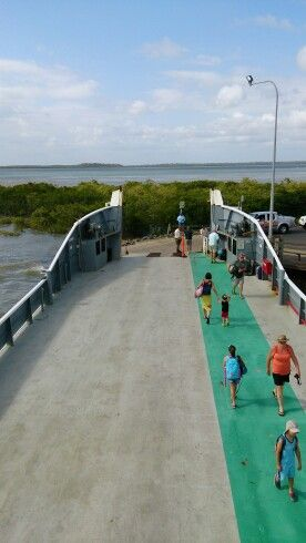 Ferry to Fraser Island,  new years day.