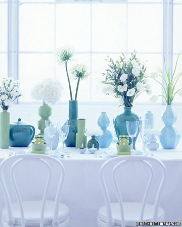 Considering Color: Greens and Blues - Martha Stewart Weddings Inspiration