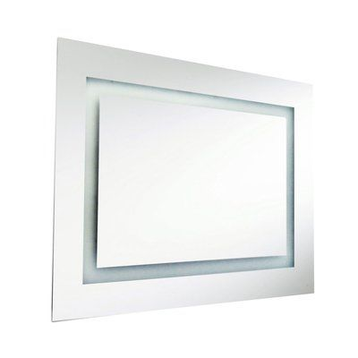 "Wade Logan Rectangular Illuminated Mirror Size: 24"" H x 32"" W x 1.5"" D"