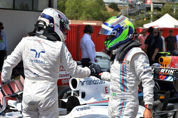 Valtteri Bottas & Felipe Massa Williams F1 Team Spanish GP 2014