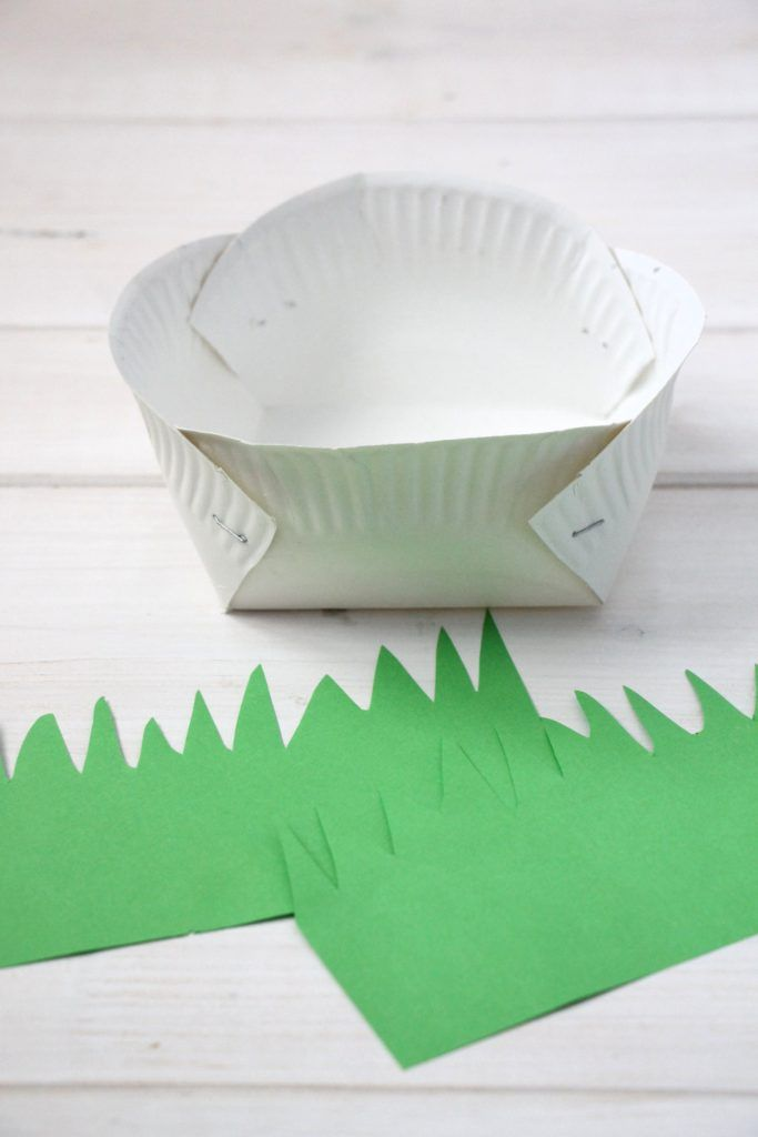 Craft Idea for Easter: Paper Easter Bowls and Ideas for an Easter Gift (incl
