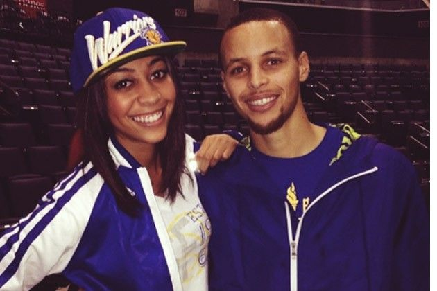 This lovely lady is Sydel Curry, she is the baby sister of NBA players Steph Curry (Warriors) and Seth Curry (Mavericks).