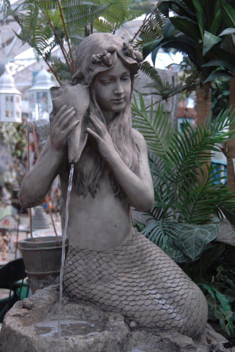 Charming Mermaid Fountain For The Garden.