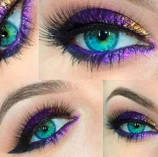 Gold and purple... that pop of gold at the corner of the eye is nice.