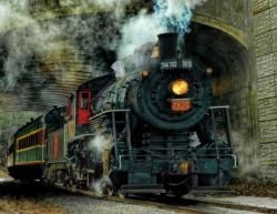 Green Mountian Express Trains Jigsaw Puzzle