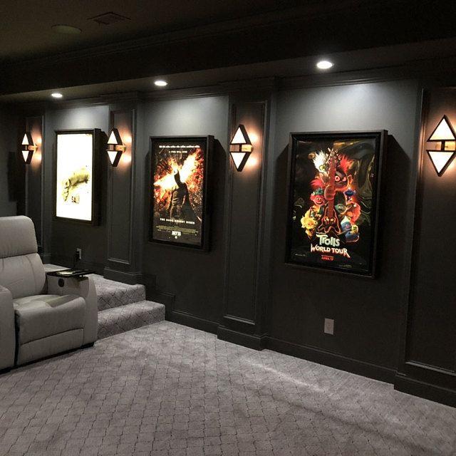 Standard Movie Poster Led Light Box Display Frame Cinema Light Etsy Home Theater Room Design Home Cinema Room Small Home Theaters