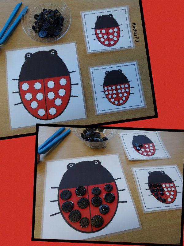 "Fine motor fun with ladybirds (FREE printable) from Rachel ("",)"