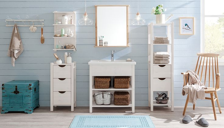 Unsere Badezimmer-Serie Paulina ist auch in Türkis erhältlich