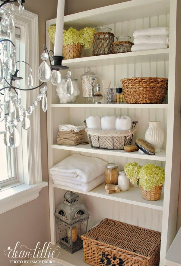 take door off bathroom closet and make it pretty