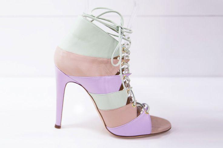 """Design Trendsetter 2015"" contest: Charline De Luca high heels in pastel colors, S/S 2016 collection #charlinedeluca #highheels #shoes #designtrendsetter2015"