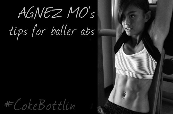 I focus a lot on my abs while working out because it's one of the hardest body parts to get super lean. #cokebottlin