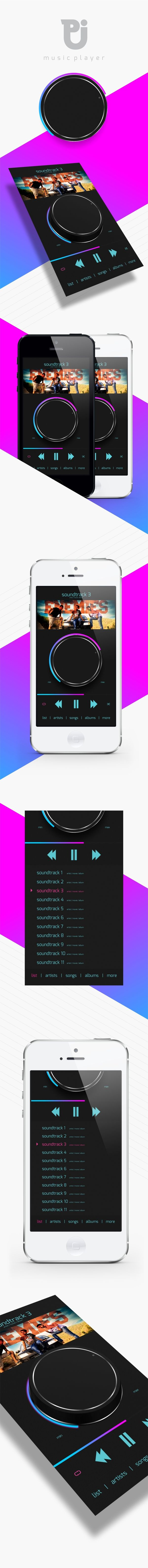 CONCEPT - iOS MUSIC PLAYER by Pintu Dhiman, via Behance *** #app #iphone #ios #gui #ui #player #behance