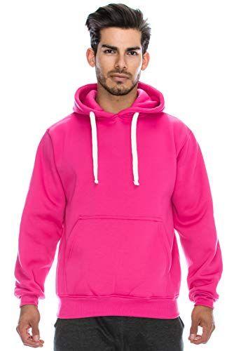 008c48cda21  doeshoodie JC DISTRO Plus Size Hipster Hip Hop Basic Heavyweight Pullover  HOTPINK Hoodie Jacket 4XL