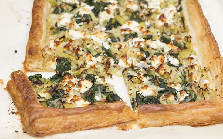 Speedy weeknight suppers: use ready-made pastry to make this quick feta and vegetable tart