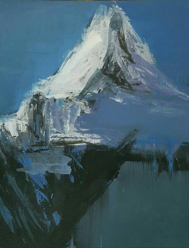 Winter Mountain 116.8 x 80.3 (cm) acrylic on canvas