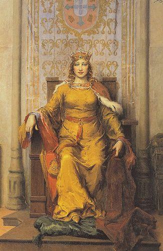 Jose Malhoa (1857 - 1929) | Realism | Portrait of Queen D Leonor - 1926