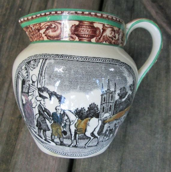 Adams Tunstall England DR.SYNTAX JUG-from the tour of Dr. Syntax c.1900 Antique by DOXIEVINTAGE