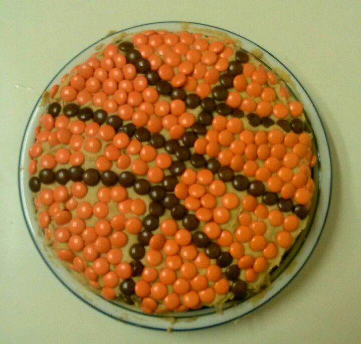 Basket Ball Birthday Cake Peanut Butter Cream Cheese
