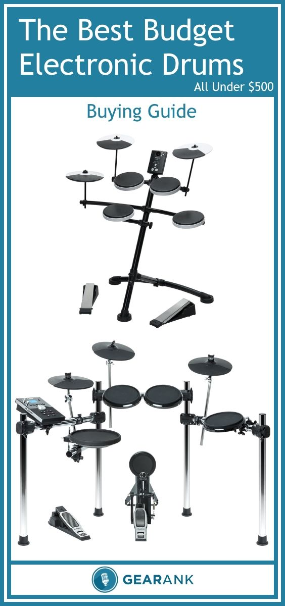 Guide to The Best Budget Electronic Drum Sets - All Under $500.  Detailed advice on everything you need to get started with electronic drums including a recommended list of the highest rated drum sets to buy.