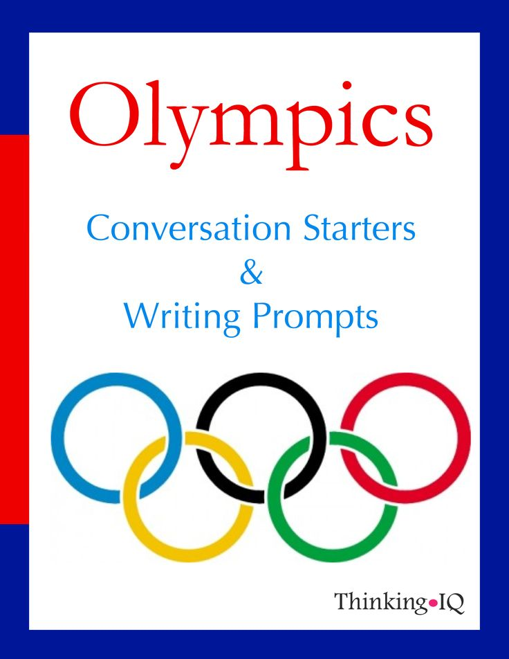 Olympics Conversation Starters and Writing Prompts Students and adults love to talk about the Olympics and learn about the athletes. Asking questions and discussing the stories and outcomes allows kids to reflect on their views regarding sports. They have the opportunity to think about sports and character traits such as motivation, perseverance, effort, and success through engaging fun prompts. The Olympics is also a great time to connect sports with learning about the world. Packet…