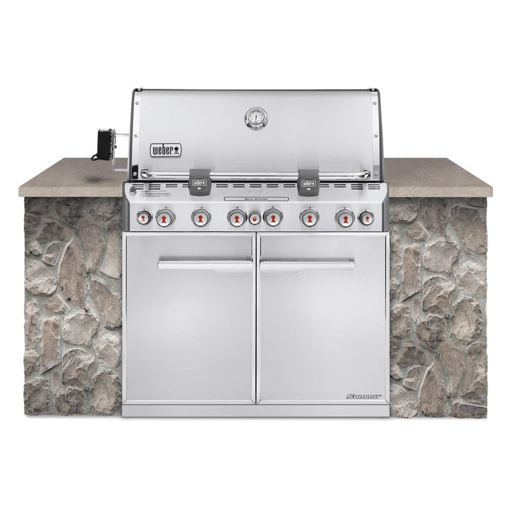 Weber Summit S-660 Built In Gas Grill - Natural Gas | from hayneedle.com