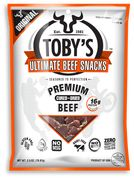 """Toby's Ultimate Paleo Beef Snacks thinly sliced to be used in any meal or """"snack on the go"""" the Ultimate Paleo snack"""