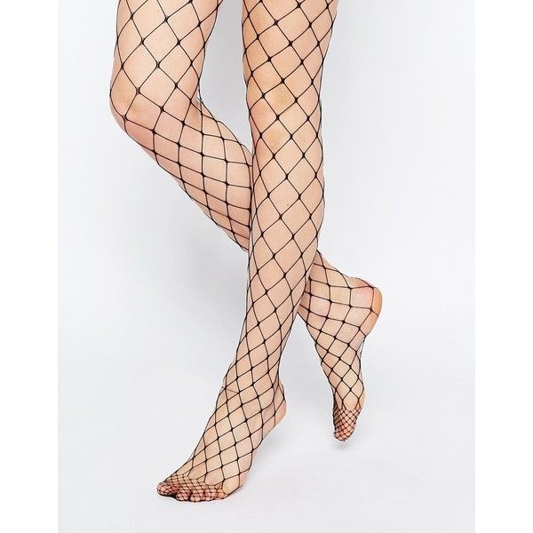 ASOS Oversized Fishnet Tights ($11) ❤ liked on Polyvore featuring intimates, hosiery, tights, black, asos tights, asos, fishnet pantyhose, fishnet hosiery and fishnet tights