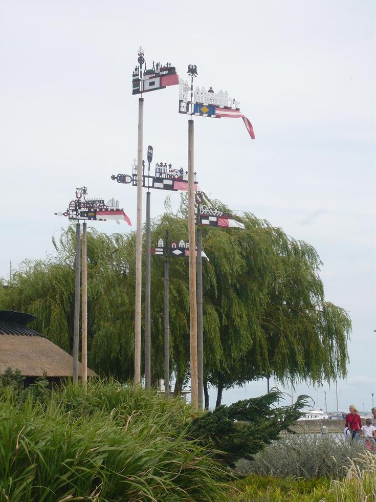 Traditional weather vanes, Nida, Curonian spit, Lithuania, 2009